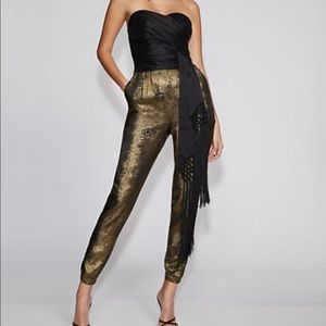 Two-Tone Strapless Jumpsuit -